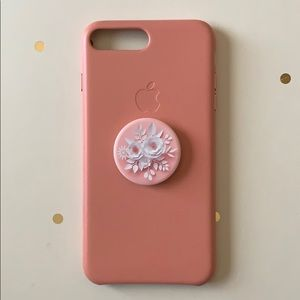 Apple iPhone 8 & 7 Plus Soft Pink Leather Case